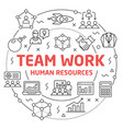 team work linear slide for the vector image vector image