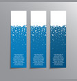the vertical winter blue banner stickers tag vector image vector image