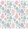 trees pattern doodle seamless pattern with vector image vector image