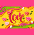 valentines day background love lettering vector image vector image