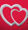 Valentines Day Hearts Cut from Paper vector image