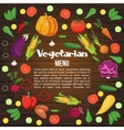 Vegetables Flat Menu vector image vector image