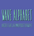 wave font alphabet vector image vector image