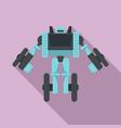 wheel robot transformer icon flat style vector image vector image