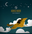 wild horse colored poster vector image