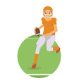young player running in american football game vector image