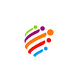 sphere colorful technology logo vector image