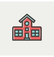School building thin line icon vector image