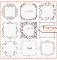 set ornate vintage frames vector image