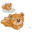 a brown teddy bear lies on vector image vector image