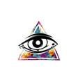 all seeing eye theme logo template vector image vector image