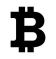 bitcon sign icon black vector image