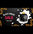 black friday sale up to 25 off black horizontal vector image