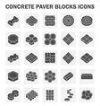 Block icon vector image vector image