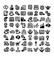 business icons big set vector image