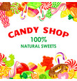 candy shop concept background cartoon style vector image