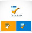 check list document logo vector image