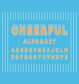 cheerful bold font alphabet vector image