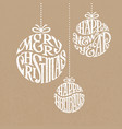 christmas decorations consist of words merry vector image vector image