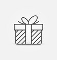 christmas gift outline concept icon or sign vector image