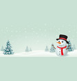 christmas snowman banner design vector image vector image