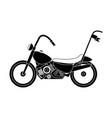 classic motorcycle vehicle icon vector image vector image
