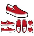 classic slip on shoes vector image vector image