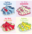 colorful childrens sandals with bows vector image vector image