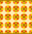 cute sweet colorful donut seamless pattern dessert vector image vector image