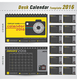 Desk calendar 2016 template for office vector image vector image
