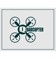 Drone quadrocopter icon Quadcopter text vector image vector image
