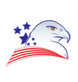 eagle head outline in american vector image vector image
