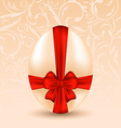 Easter celebration background with traditional egg vector image