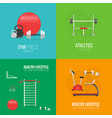 fitness and a healthy lifestyle concept banner vector image vector image