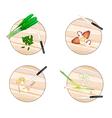 Galangal Lemon Grass Straw MushroomsCulantro vector image vector image