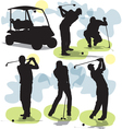 Golf silhouettes vector | Price: 1 Credit (USD $1)