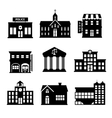 Government buildings black and white icons vector image vector image