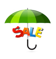 Green Umbrella with Sale Sticker vector image vector image