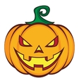 Halloween cartoon pumpkin jack lantern isolated on vector image vector image