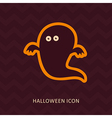 Halloween Ghost silhouette icon vector image vector image