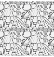 Hand drawn seamless pattern for kitchen theme vector image