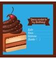 happy birtday invitation card vector image