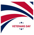 happy veterans day design with typography vector image