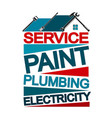 home repair banner vector image vector image