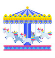 horse carousel icon flat isolated vector image vector image