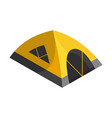 isometric camping colored symbol hiking icon vector image