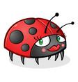 ladybug cartoon character wearing makeup vector image vector image