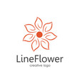 line flower logo vector image vector image