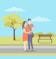 male and female characters in flat style walking vector image vector image