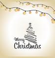 merry christmas creative typography lighting vector image vector image